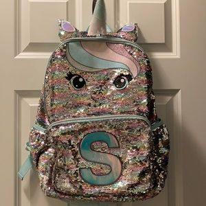 Justice Unicorn Sequin Backpack